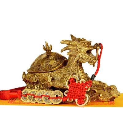 墾丁老街 銅龍龜擺件開蓋龍頭龜工藝品母子龍龜銅龜擺件
