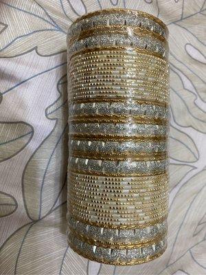 印度手環金色帶銀