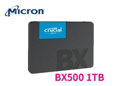 「ㄚ秒市集」美光 Micron SSD BX500 1TB SATA3 2.5吋 固態硬碟 TLC
