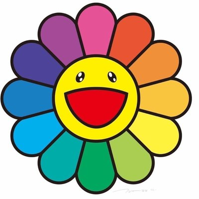 村上隆 Takashi Murakami 微笑彩花 Smile On, Rainbow Flower 版畫