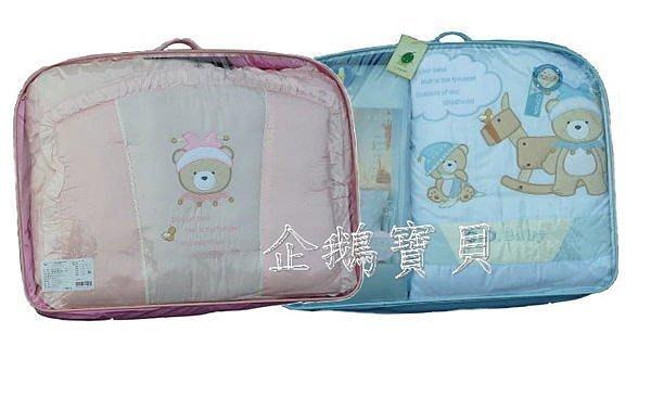 @企鵝寶貝二館@淘氣熊(100%純棉防螨抗菌)七件組.七件寢具組.嬰兒床組 - L