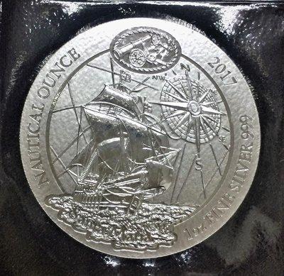 Rwanda 盧旺達航海時代-哥倫布聖瑪麗亞號銀幣 (1 toz)