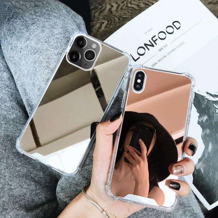 iphone手機矽膠套帶鏡子的iPhone11pro/X補妝鏡面手機殼Xr蘋果11/XsMax網紅8/7plus
