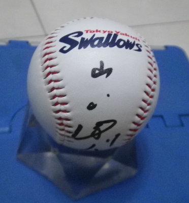 棒球天地--全台唯一--山田哲人 簽名養樂多球.字跡漂亮