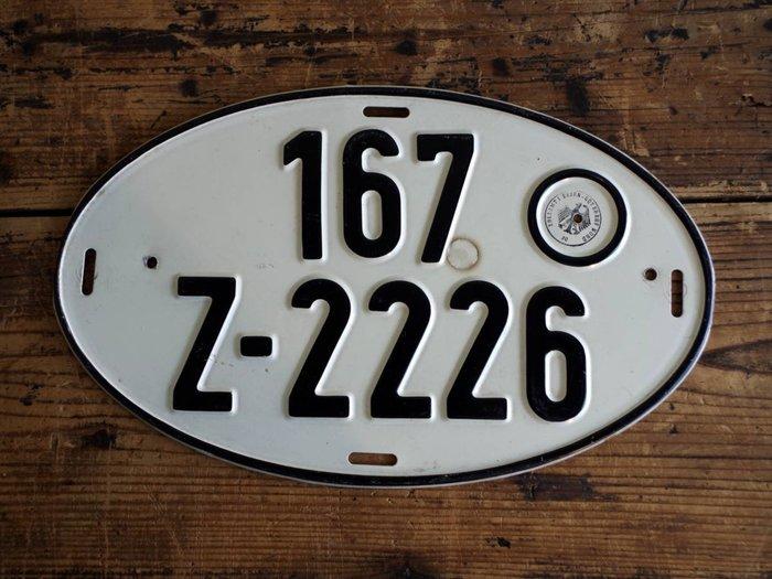 中古正品 德國汽車大牌 歐盟車牌( 鋁牌) 1980年代 出口車輛專用牌照 167
