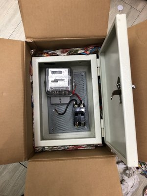 匯流排分電箱+電度錶+2P無熔絲開關 套房專用