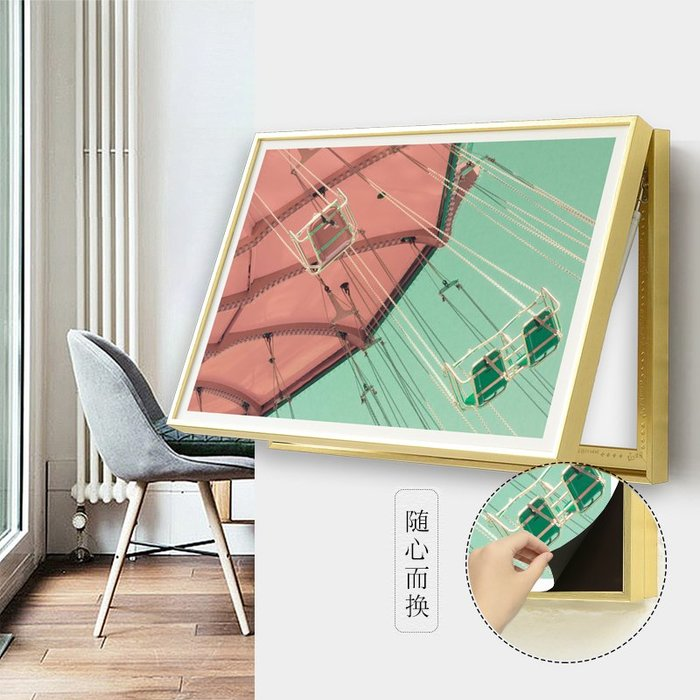 印象詩畫 翻蓋電表箱裝飾畫遮擋弱電閘盒現代簡約創意磁貼畫