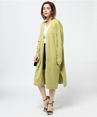 【三件7折】MOUSSY 簡單着用針織長外套