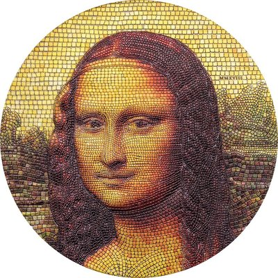 MONA LISA Great Micromosaic Passion 3 Oz Silver Coin 蒙娜麗莎馬賽克