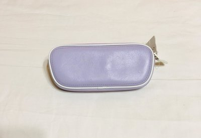 coach 薰衣紫 淺紫粉 淡紫色 真皮 眼鏡盒 眼鏡袋 筆袋