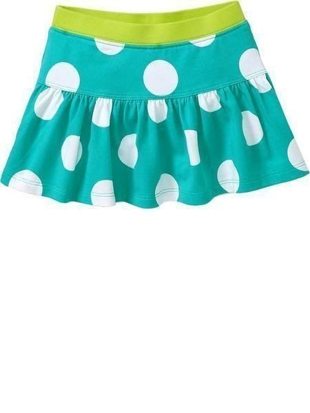 【Nichole's歐美進口優質童裝】Old navy 女童搖滾綠圓點可愛短裙*另有Carter's/OshKosh