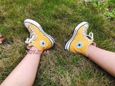 18S新款 CONVERSE ALL STAR 1970 黃色 芥末黃 高筒 奶油底 三星 黑標 男女鞋 162054C