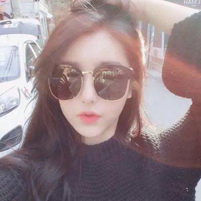 【Amily】韓國大框 太陽鏡 女大框複古近視 墨鏡女潮人 明星款太陽眼鏡圓臉