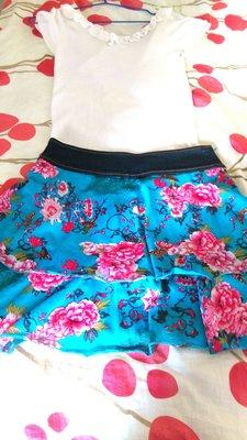 1元起標品牌班品氣質公主~針織~玫瑰花朵小短裙