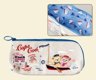 【日本迪士尼代購】Duffy 達菲熊 Shelliemay 雪莉梅 划船旅行風筆袋 (預購)