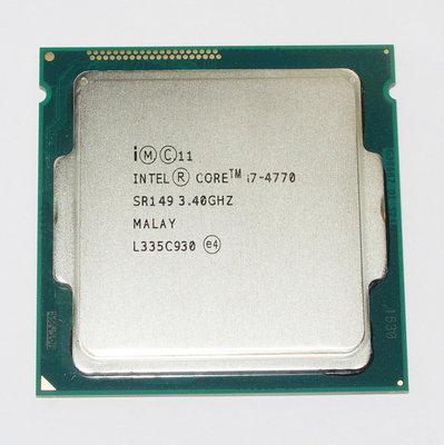 【大媽電腦】 Intel Core i7-4770 四核心 CPU 1150腳位 3.4G 8M