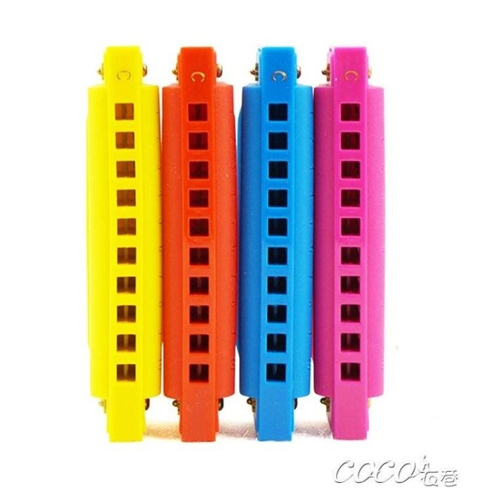 口琴 C調布魯斯10孔兒童口琴玩具 初學入門男女孩吹奏樂器口風哨小喇叭