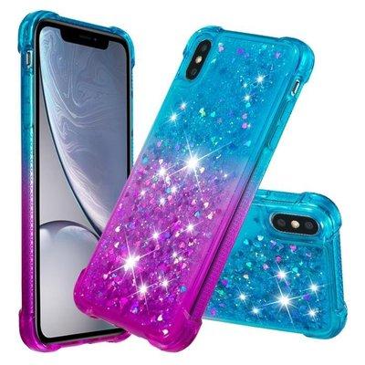 Prime Shop 蘋果iphone8 plus漸變7四角防摔流沙XS手機套MAX保護軟殼XR流動6S 歐美裝飾配件