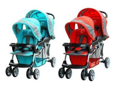 [如意]Baby Babe  歐風雙人手推車  五點式安全帶(全新)紅/ 藍.B329 新北市