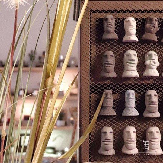 【曙muse】原創表情摩艾磁鐵 手作原創 loft 工業風 咖啡廳 民宿 餐廳 住家