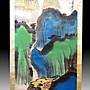 【 金王記拍寶網 】S1553  張大千款 潑彩 山水圖 手繪書畫捲軸一幅 罕見 稀少~