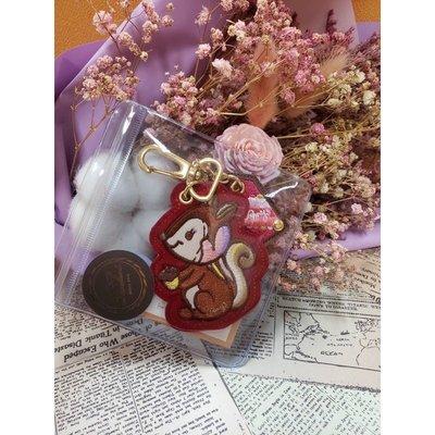 絕版現貨【台灣設計師Amy's Dreamland】植絨刺繡松鼠️鑰匙圈