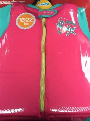 SPEEDO 整件式 兒童浮力衣 連身泳衣