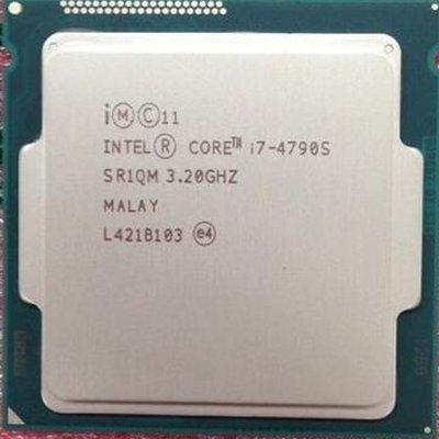5Cgo【權宇】拆機二手 INTEL 四核 I7-4790S CPU 3.2G 8MB LGA1150 正式版散片 含稅