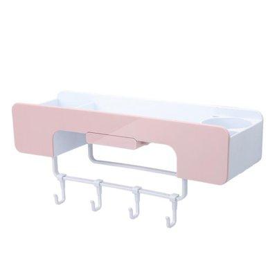 免打孔置物架衛生間廁所浴室壁掛洗衣機洗漱臺洗手間收納架吸壁式