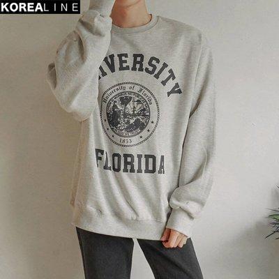 KOREALINE搖滾星球 / UNIVERSITY FLORIDA印刷衛衣 / 2色 EF994350