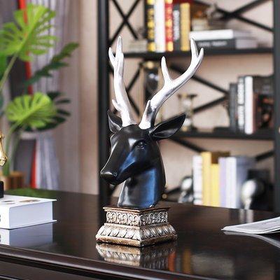 〖洋碼頭〗酒櫃裝飾品輕奢軟裝鹿頭擺件美式動物擺設辦公室歐式麋鹿 sme294