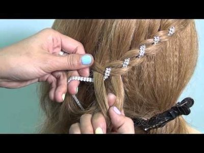 美顏色@@新娘秘書..編髮 金銅色金屬髮帶緞帶頭飾髮飾 五件免運