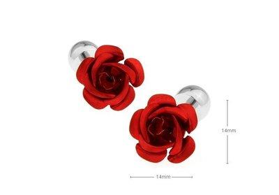 ☆TA精品☆ 男士精品-红玫瑰花袖扣 151249