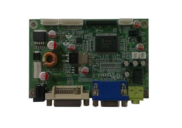 液晶顯示器驅動板 A/D board (DVI+VGA, DC 12V, 固態電容)