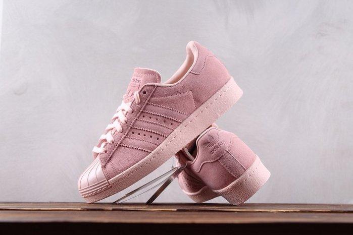 Adidas Superstar 80s Metal Toe W 櫻花粉 麂皮復古貝殼頭 休閒板鞋 女鞋CP9946