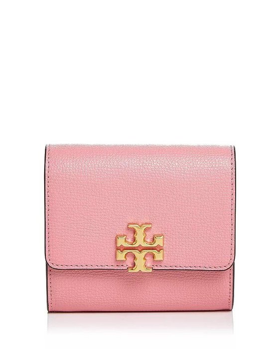 Coco小舖 Tory Burch Kira Medium Foldable Wallet  粉紅色拉鍊短夾