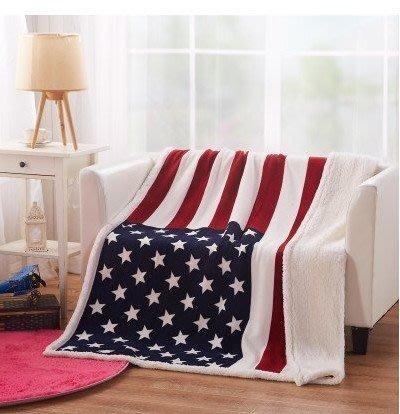 【布拉格歐風家具】羊羔絨法蘭絨空調毯 雙層加厚兒童毛毯子英國國旗休閑蓋毯-(2條免運費)