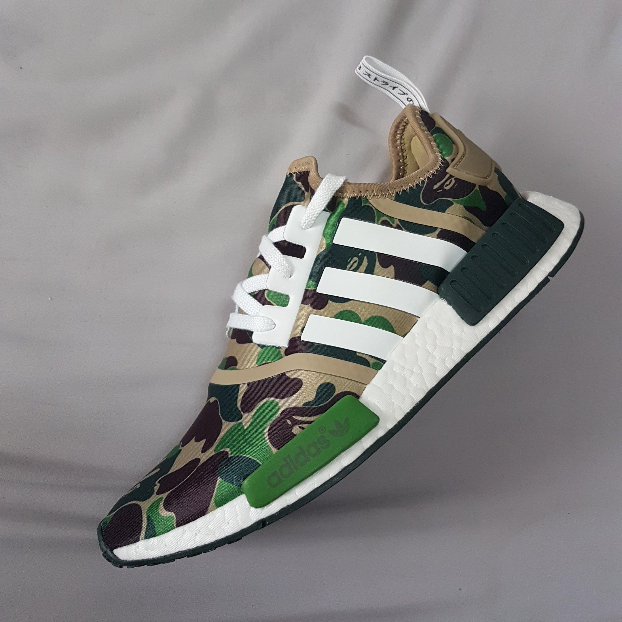 f646e59c84cc4 adidas Originals NMD R1 BAPE APE NMD 猿人神鞋綠迷彩超限量釋出
