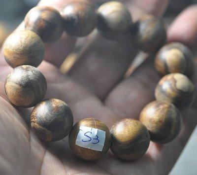 宋家苦茶油shawnanall.s3號.台灣三峽黑格肖楠木所製18mm13顆手珠.香噴噴.沉水黑格重油.