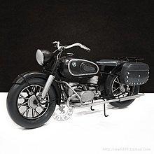 BMW複古擺件鐵藝寶馬R60摩托車鐵皮模型*Vesta 維斯塔*