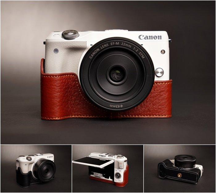 TP真皮 EOS M3 Canon 2015年新款甩紋真皮底座(無開底)  自然甩紋牛皮  質感超讚!