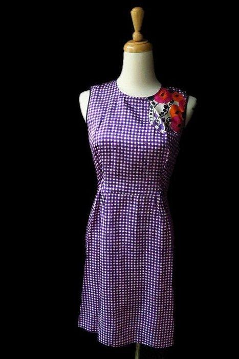 *Beauty*Marc Jacobs紫色格紋背心洋裝0號  10800  元WE18