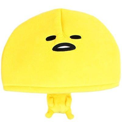 尼德斯Nydus~* 日本正版 Sanrio 三麗鷗 蛋黃哥 造型帽子 玩偶 cosplay 變裝