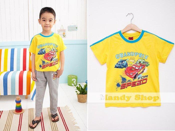 mandyshop【1186】台灣製㊣ Disney迪士尼 / 汽車總動員/閃電麥坤CARS短袖T恤