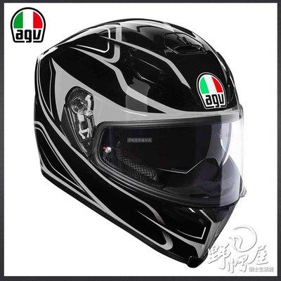 三重《野帽屋》義大利 AGV 全罩 安全帽 K-5 S 內建墨片 亞洲版型 K5S K-5。Magnitude 黑灰