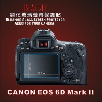 (BEAGLE)鋼化玻璃螢幕保護貼 Canon 6DM2 專用-可觸控-抗指紋油汙-硬度9H-防爆-台灣製(2片式)
