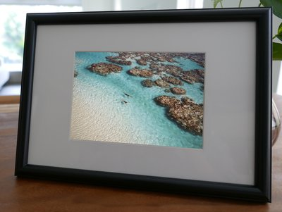 聚鯨Cetacea﹡Art【KLFZ-1222】seaside海邊/swimming游泳/scene景色 畫框相框