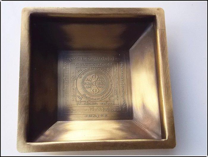【雅之賞|藏傳|佛教文物】塔爾寺傳承煙供爐 純銅製作 焦煙聞解脫十字金剛杵煙供爐~Q027