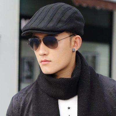 男冬天鴨舌帽針織毛線帽貝雷帽前進帽