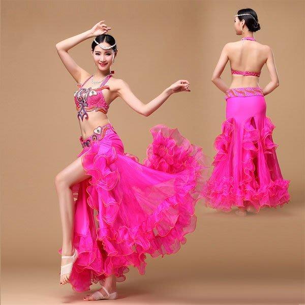 5Cgo【鴿樓】會員有優惠  528758823806 新款肚皮舞套裝演出服裝新款高檔大師包臀魚尾裙舞蹈表演服